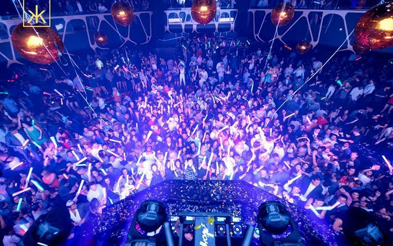 Best Vegas nightclub Hakkasan main room ariel view.