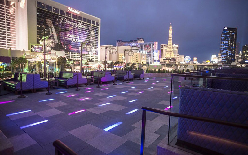 Las Vegas night club view of the outdoor terrace at Omnia.