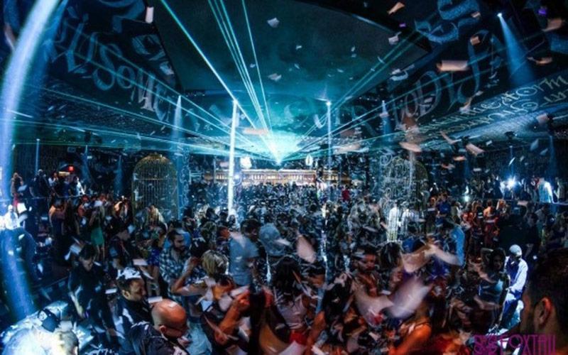 Foxtail Nightclub Las Vegas crowd shot.