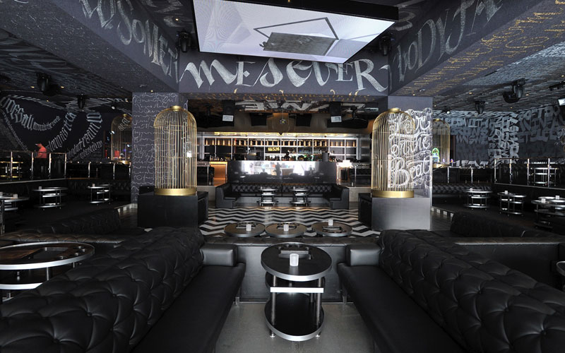 Foxtail Nightclub Las Vegas main room vip section.