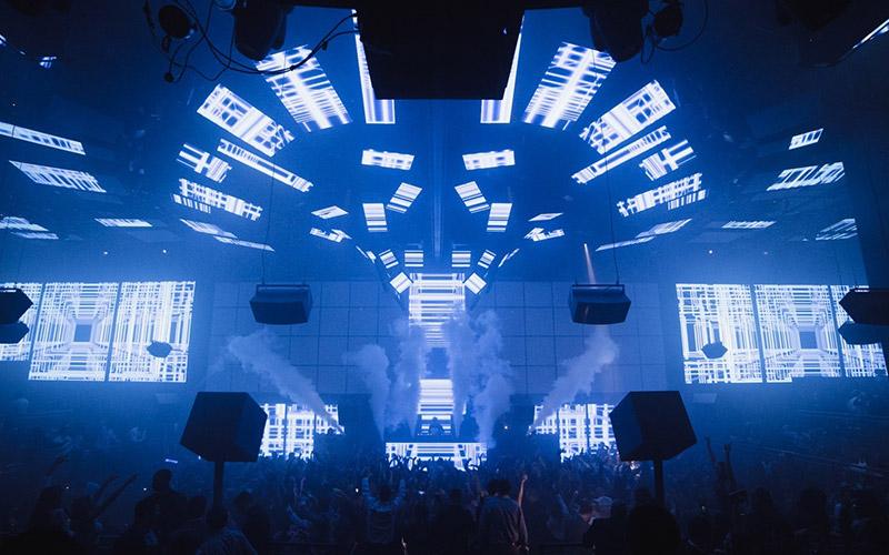 Light Nightclub Las Vegas main room stage view.