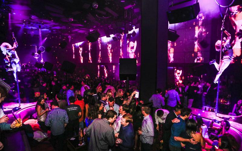 Light night club in Vegas.