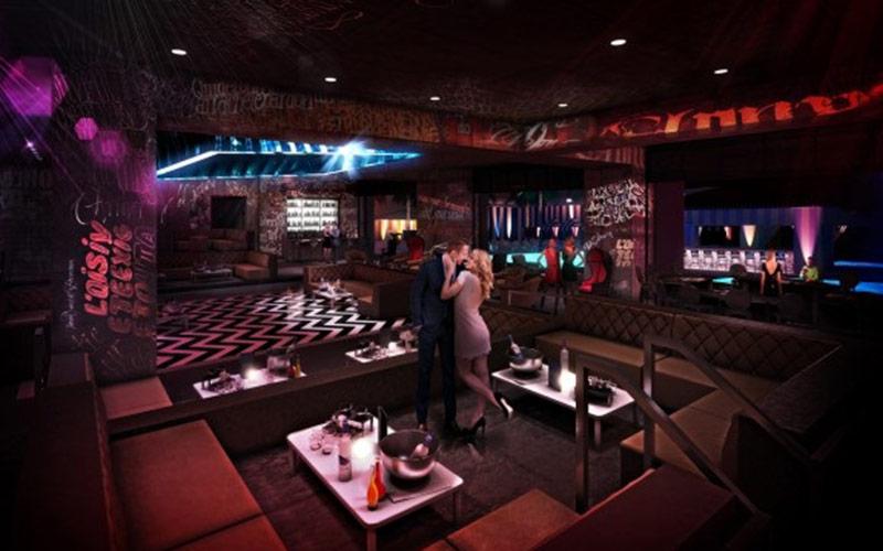Nghtclub in Vegas corner view in Foxtail.