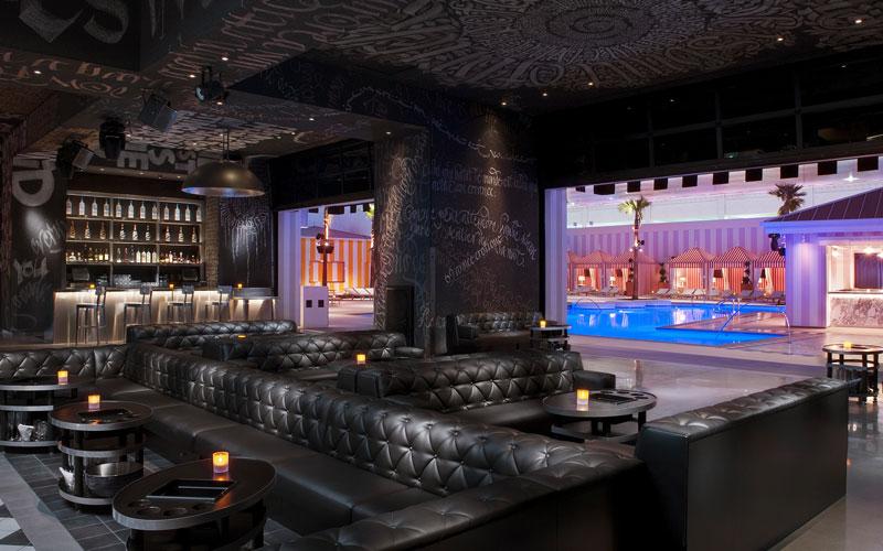 Main room at Foxtail Nightclub in Vegas.