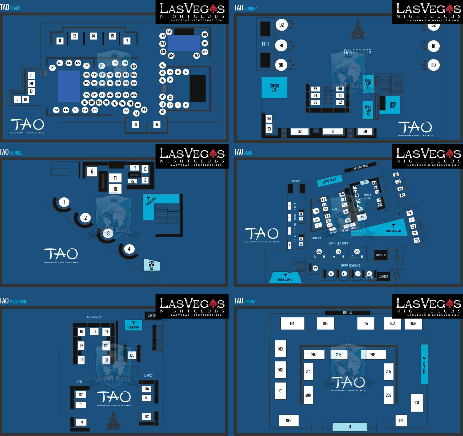 Tao nightclub las vegas best nightclub in vegas at for Nightclub floor plans