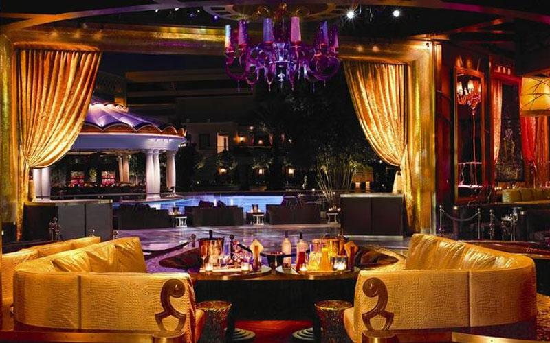 XS Vegas Nightclub VIP section.