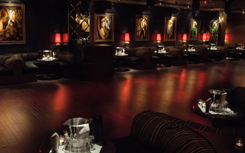 Drai's After Hours Las Vegas VIP section and dance floor.