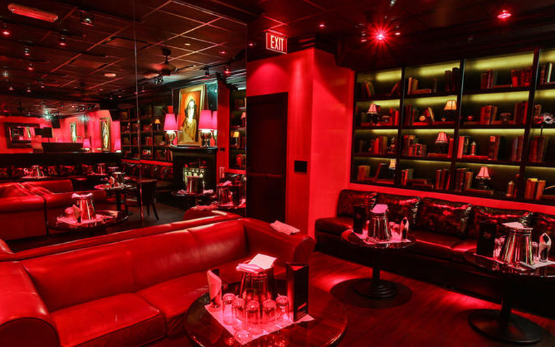 Drai's After Hours Las Vegas corner view of the VIP tables.