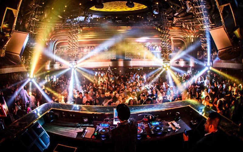 Jewel Nightclub Las Vegas Dj booth view.