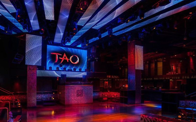 Tao bottle service in the main room of the nightclub.