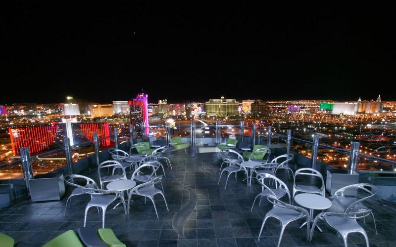 Vegas club patio at Ghostbar.